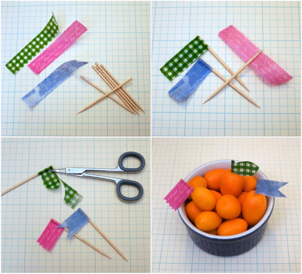 Washi Tape Food Picks Bento Zen